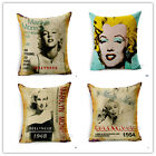 "Marilyn Monroe Cotton Linen Cushion Cover New Pillow Case Home Decor 18""*18"""