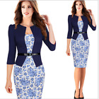 Bodycon Dress Peplum Elegant  Fashion Formal Womens New Business Midi Pencil