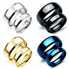 CH 5/8mm Stainless Steel Ring Men Women Wedding Band Silver Gold Blue Size 5-11