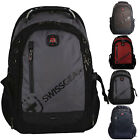 "SwissGear 15.6"" Laptop Backpack Outdoor School Travel Bag Business Case Pockets"
