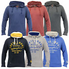 Mens Sweatshirt Tokyo Laundry Hooded Top Sweat Applique Zip Gym Fleece Lined New