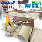 *Gloss Gray Marble Granite Vinyl Wrap Sticker Wallpaper Home Counter Top D09