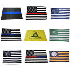 3x5 Ft America USA Police Support Flag Memorial Law Enforcement Grommets Flags