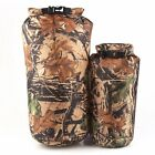 8 15L Camouflage Waterproof Dry Bag Sack Pouch Floating Boating Kayaking Camping