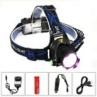 Fishing Rechargeable 6000LM XM-L T6 LED Headlight Running Head Torch 18650 USB