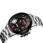 Solar Power Watches 30M Waterproof Mens Stainless Steel Band Light Table Watches