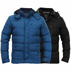 Mens Jacket Smith & Jones Coat Hooded Padded Quilted Puffer Bubble Lined Winter