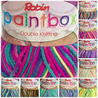 Robin Paintbox Double knit supersoft wool 100 gram balls 10 colours