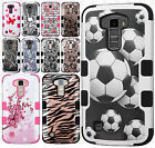 For LG Premier LTE IMPACT TUFF HYBRID Protector Case Skin Cover +Screen Guard