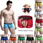 Men Solid Color Silm Fit Magnetic Healthy Boxer Brief Short Cotton Underwear CA