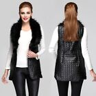 Hot Womens Fashion Long Warm Faux Fur Vest Sleeveless Gilet Tops Coat Waistcoat