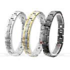 4 in 1 Steel Grid Link Magnetic Germanium Therapy Energy Health Care Bracelet