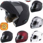 V-CAN V210 Bluetooth 5 with LCD display /Radio ACU Gold Flip Up Motorbike Helmet