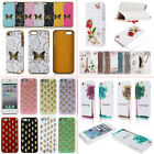 Various Patterns Silicone/Leather Back Case Cover Protective Skin fr iPhone 5 5s