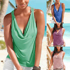New Women Backless Lace Top Vest Tank Sleeveless Casual Tops Summer Shirt Blouse