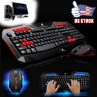 New 2.4G Ergonomic Wireless Optical Gaming keyboard and Mouse Set For PC Laptop