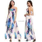 Women Boho Floral Long Evening Party Maxi Dress Long Dress Beach Dresses 8-16