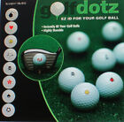 New GOLFDOTZ - twin pack of easy to apply ID transfers for golf balls - to clear