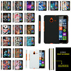 For Microsoft Lumia 640 XL Slim Fitted Snap On Case Unique Designs + Stylus Pen