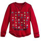 Disney Store Star Wars Characters Long Sleeve Thermal Shirt Tee Kids Size M 7/8