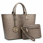 New Womens Handbags Faux Leather Satchels Tote Bags Shoulder Bag Monogram Purse