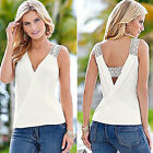 C Sleeveless Top Women Fashion Summer Blouse T-Shirt Blouse Vest Casual Tank Top
