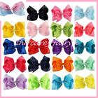 Dance moms hair bow hair clip rainbow 8 inch ombre romany bling cheer
