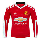 Manchester United FC Official Gift Boys Adidas Home Kit Long Sleeve Shirt