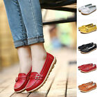 Women Buckle Style Genuine Leather Casual Bowed Flat Shoes Loafers Boat Shoes