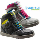 NEW WOMENS PINEAPPLE HI TOP SPORTS SHOES GYM JOGGING RUNNING CASUAL TRAINERS SZ