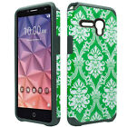 For Alcatel OneTouch Flint HARD Hybrid Rubber Silicone Case Cover +Screen Guard