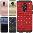 For LG Phoenix 3 ROSE Leather Wallet Case Pouch Flip Phone Cover Accessory