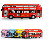 Rare Pull Back Sound and light Tour Double Deck Bus Model 1:32 Car Kid Toy Gift