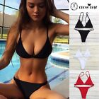 2017 Women Bandage Bikini Set Push-up Bra Swimsuit Bathing Suit Swimwear SFC