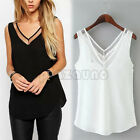 Casual Women V-Neck Vest Summer Loose Chiffon Sleeveless T-Shirt Sexy Blouse