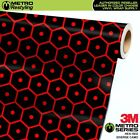 METRO DIVERSE SERIES SATIN HEXI RED CAMO Vinyl Vehicle Car Wrap Film Sheet Roll