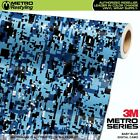DIGITAL BABY BLUE Camouflage Vinyl Car Wrap Camo Film Decal Sheet Roll Adhesive