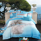 800TC Cotton Tree Quilt/Duvet/Doona Cover Set Queen/King Size Bed Pillowcase New