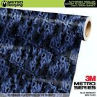 MINI BLUE MIDNIGHT Camouflage Vinyl Vehicle Car Wrap Camo Film Sheet Roll