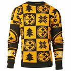 NFL UGLY SWEATER Pullover Christmas Style PITTSBURGH STEELERS Patches Football