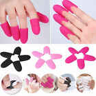 5/10PCS Women Nail Art Silicone UV Gel Polish Remover Wraps Soak Off Cap Clip