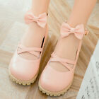 Cute womens mary janes stylish girls round toe flats ankle strap bowknot Shoes