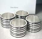 Vera Wang Wedgwood With Love Noir Napkin Rings Set Of 4 New In Box