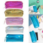 Portable Hologram Mini Color Pencil Case Zip Pouch Makeup Cosmetic Storage Bag
