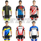 Anti-UV Nuckily New Men's Bike Sports Short Sleeves Cycling Jersey+Shorts Set