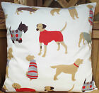 NEW CUSHION COVERS BROWN POODLE SAUSAGE DOG POINTER SCOTTY DOGS SAME BOTH SIDES
