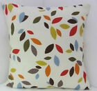 ABSTRACT ORANGE MUSTARD RED GREEN CREAM CUSHION COVERS SCATTER COVERS