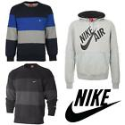 new 2017 NIKE CREW NECK HOODED FLEECE SWAETSHIRT BLACK GREY BLUE RRP £45