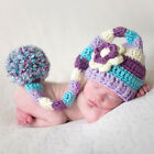 Newborn Baby Girls Boys Crochet Knit Costume Photo Photography Prop Outfits Hat
