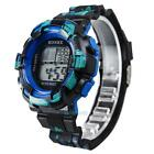 Waterproof Men's Boy LCD Digital Watch Stopwatch Date Rubber Sport Wrist Watch #